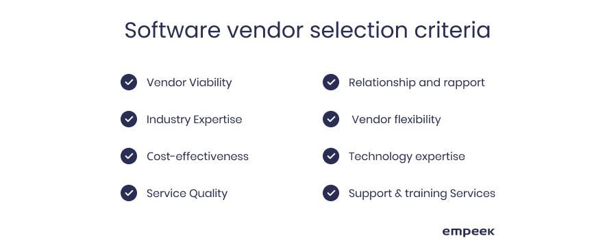 RPM software vendor selection criteria