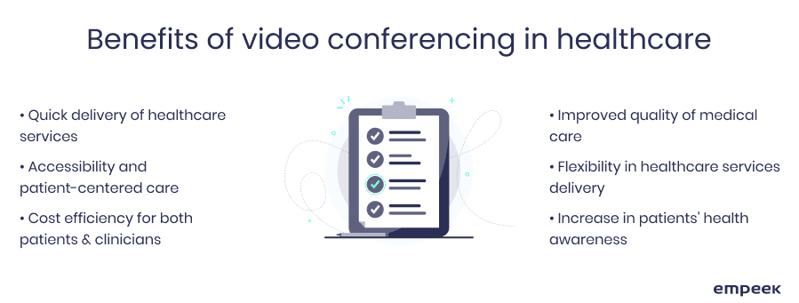 benefits of video conferencing in healthcare