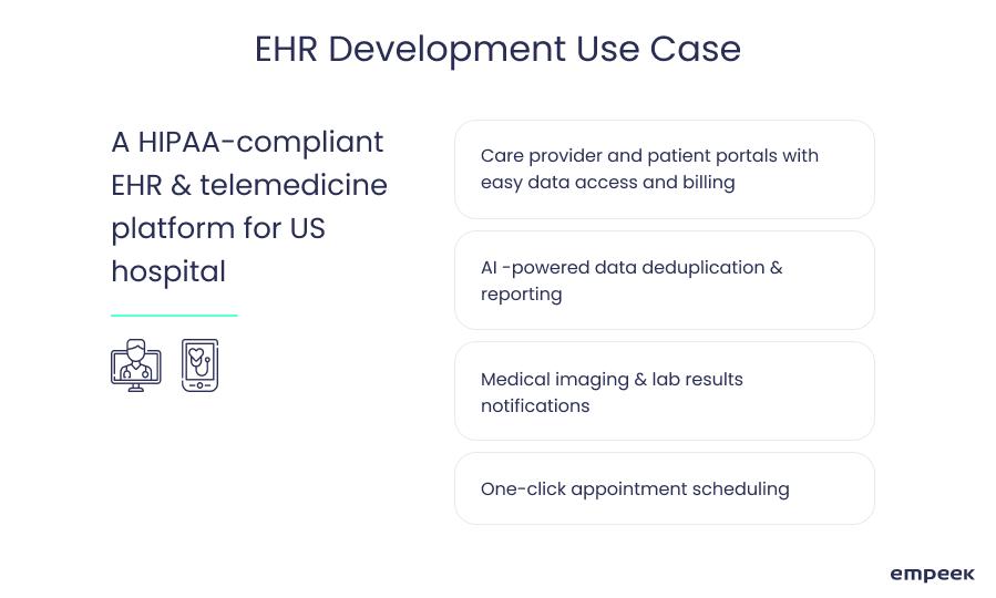 EHR development use case