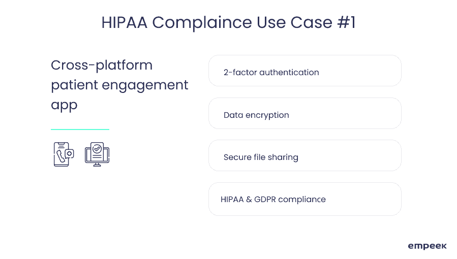 HIPAA compliant platform use case